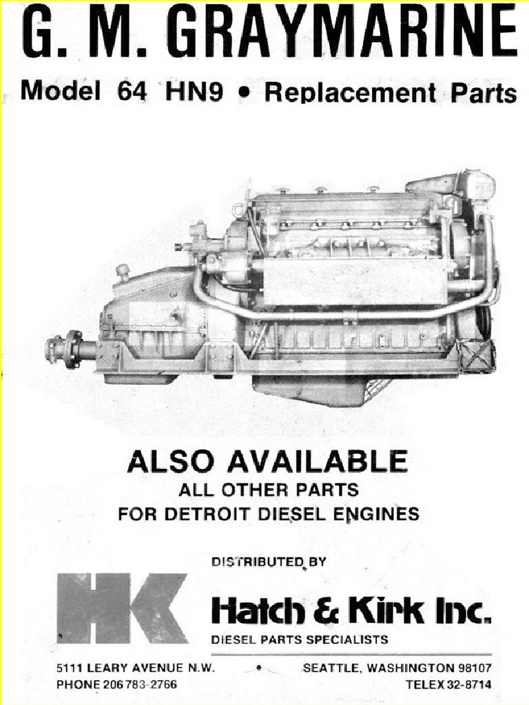 Detroit Diesel 671 parts Manual